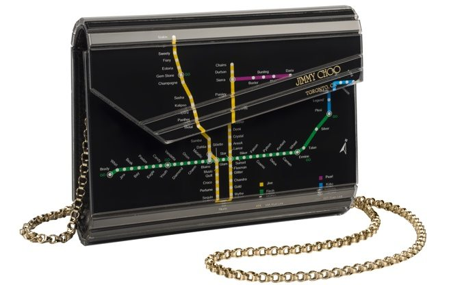 Jimmy Choo opens in Yorkdale with a limited edition TTC clutch