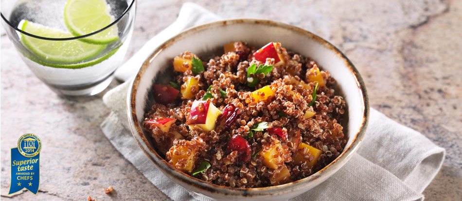 RED QUINOA SALAD WITH BUTTERNUT SQUASH