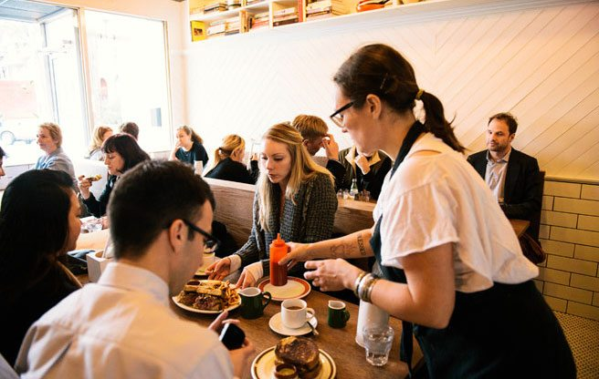 The brunch scene at Rose and Sons (Image: Emma McIntyre)