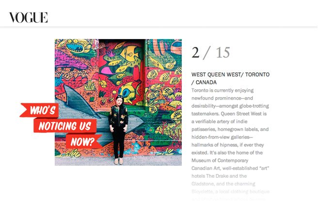 <em>Vogue</em> declares Queen West the second coolest neighbourhood in the world
