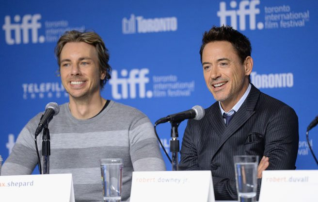 Robert Downey Jr. makes a threesome joke, because that's his job