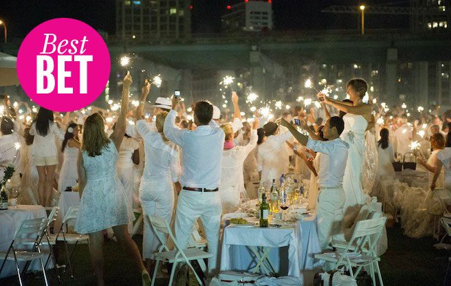 Attend Dîner en Blanc, the only food pop-up where you bring your own food (and table, chairs, cutlery, etc.)