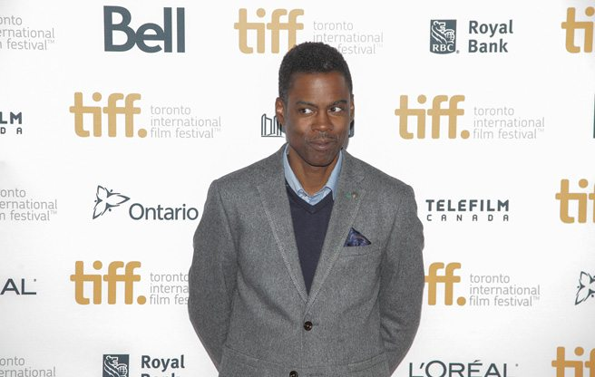 Chris Rock leads a troupe of comedians down the carpet at the premiere of <em>Top Five</em>