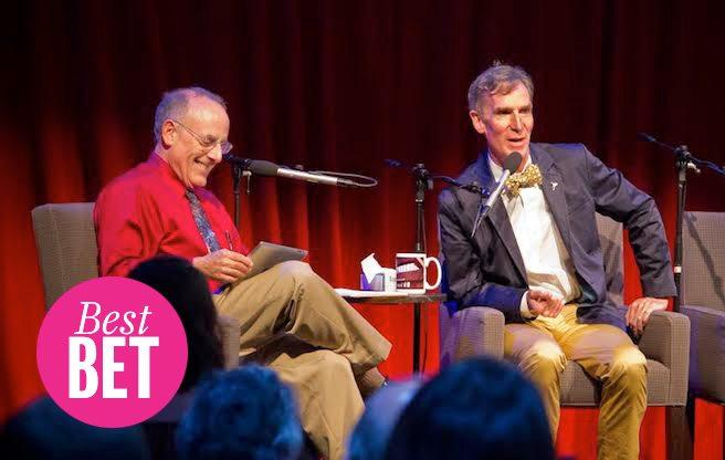 Planetary Radio host Mat Kaplan with Bill Nye. (Image: Loren Roberts)