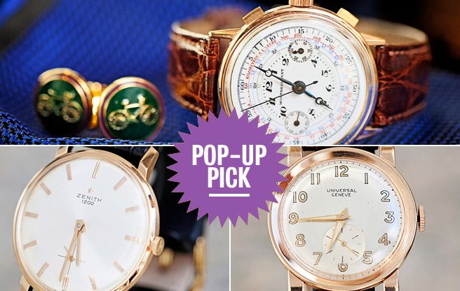 Pop-Up Pick: browse vintage Rolex, Omega and Patek Phillipe watches at Garrison Bespoke's two-day event