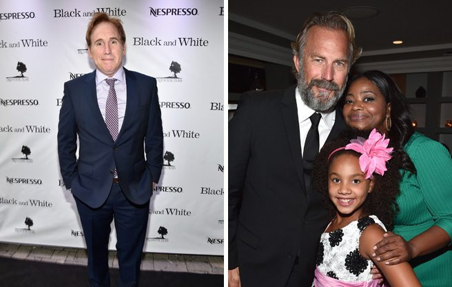 Kevin Costner holds court (and Octavia Spencer goes barefoot) at the after-party for <em>Black and White</em>