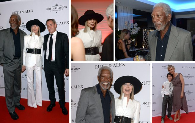 Morgan Freeman and Diane Keaton hit the after-party for <em>Ruth and Alex</em>