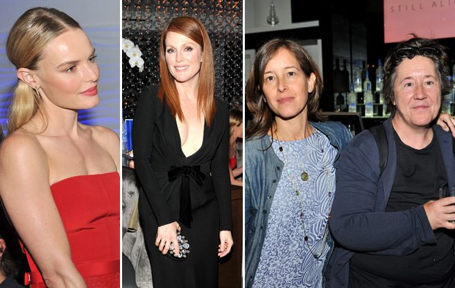 Julianne Moore and Kate Bosworth party, mostly unnoticed, on Simcoe Street