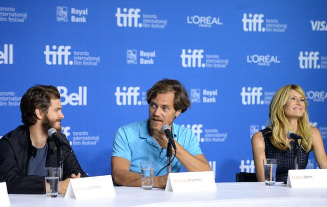Andrew Garfield and Michael Shannon say homelessness is bad