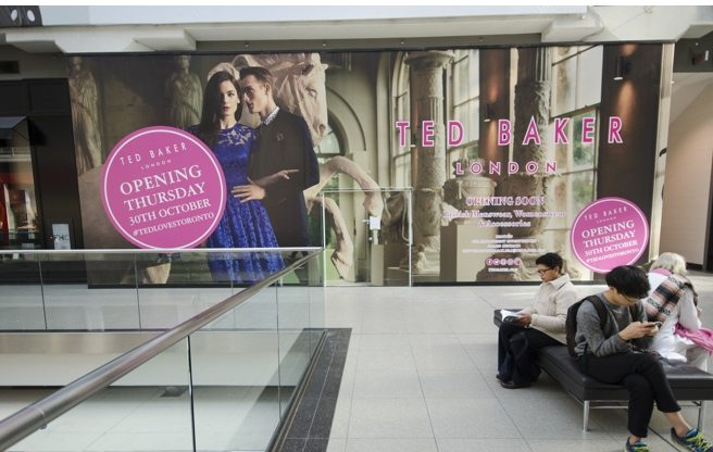 Ted Baker's first downtown store opens Saturday in the Eaton Centre