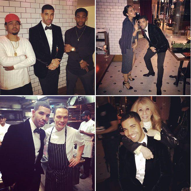 Drake celebrates his birthday on Dundas West