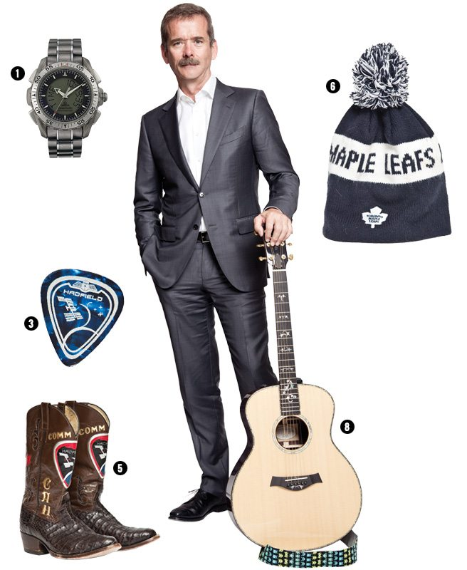 Ten things Chris Hadfield can't live without