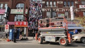 How do you make a three-storey-tall sculpture out of clothes, for Nuit Blanche?