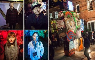 Nuit Blanche: people try to explain the installations