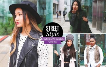 Street Style Trend Report: show-goers trade fall coats for luxe vests at Toronto Fashion Week