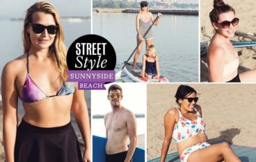 Street Style: bikini-clad Torontonians hit the beach (at the end of September)