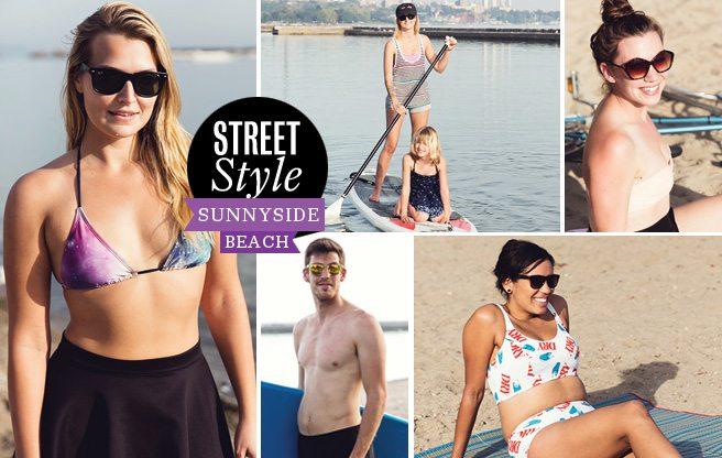 Street Style: bikini-clad Torontonians hit the beach (at the end of September)