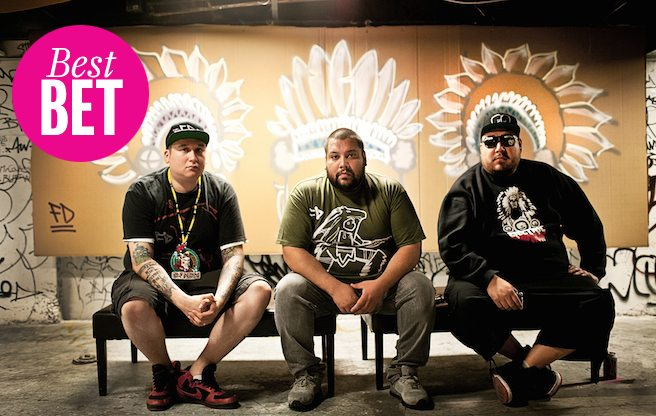 Join a high-concept dance party with A Tribe Called Red