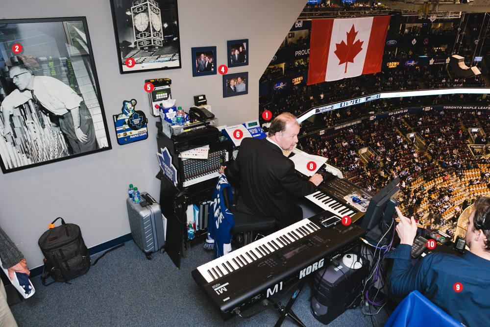 They shoot, he scores: a look at Maple Leafs organist Jimmy Holmstrom's booth at the Air Canada Centre