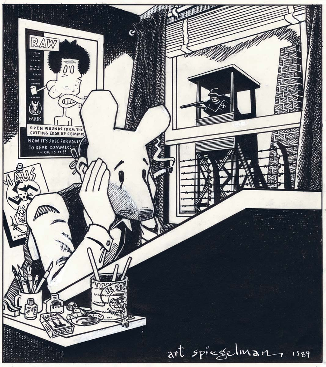 See a radiant retrospective of Art Spiegelman's comic (and not-so-comic) art