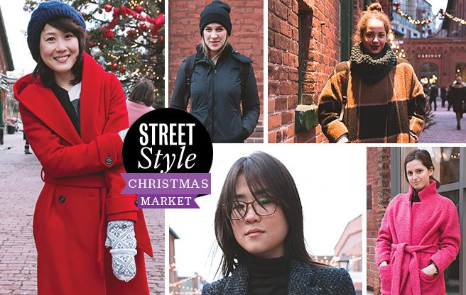 Street Style: visitors bundle up at the Distillery District's Christmas Market