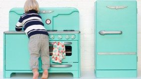 The Find: a trendy, top-of-the-line play kitchen for miniature food fanatics