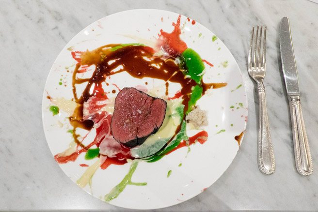 Way-out wagyu: Michelin-starred Massimo Bottura's psychedelic steak from Buca's one-of-a-kind dinner