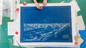How a precious blueprint of the Bloor Viaduct got a makeover at the Toronto Archives