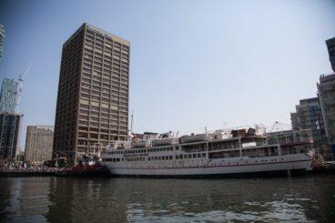 Captain John's in port in the Yonge Street slip
