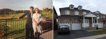 Hann and Bich Pan, left; their home in Markham, right.