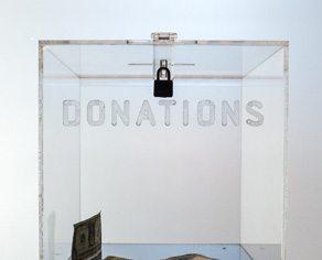 Charitable donations box