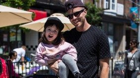 Street Style: hip dads hang out with their cute kids at a Dundas West street fest