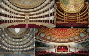 David Leventi photographs of opulent opera houses