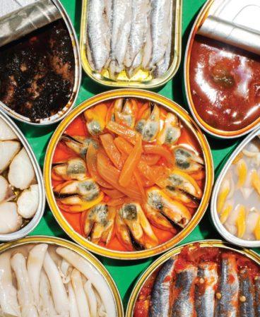 Bar Raval seafood tins