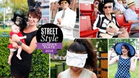 Street Style: Queen's Plate–goers flaunt flapper looks and floppy hats at Woodbine Racetrack