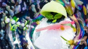A breakdown of BarChef's Abstract Ice, a cocktail you eat with a spoon