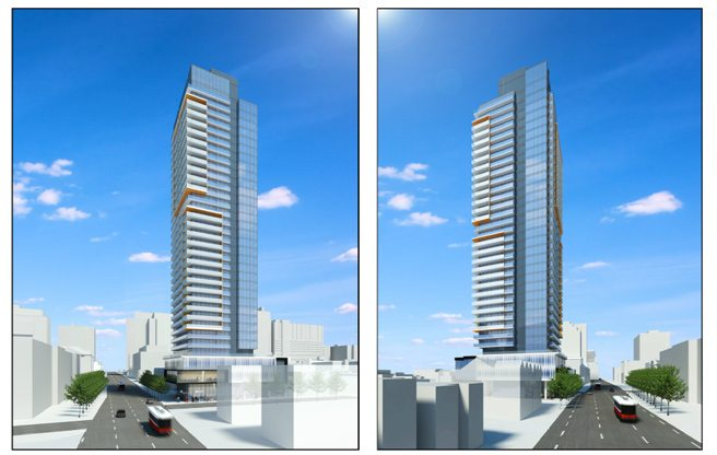 The condo tower proposed for 203 College Street