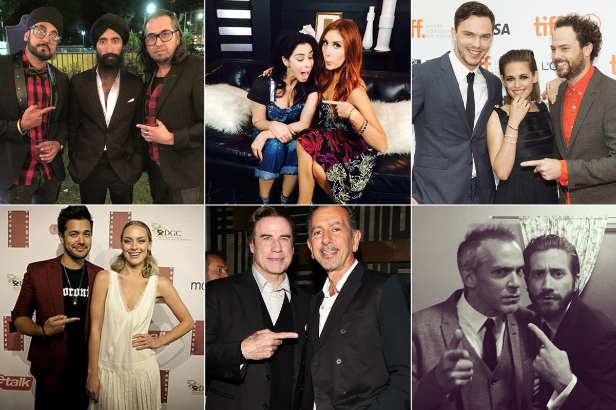 TIFF 2015 celebrities pointing at each other