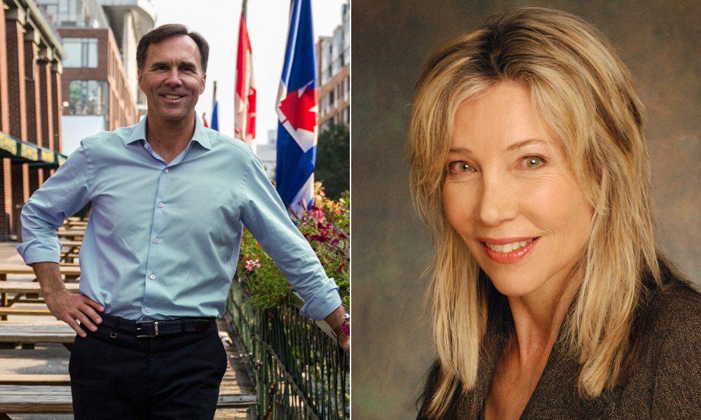 Bill Morneau and Linda McQuaig