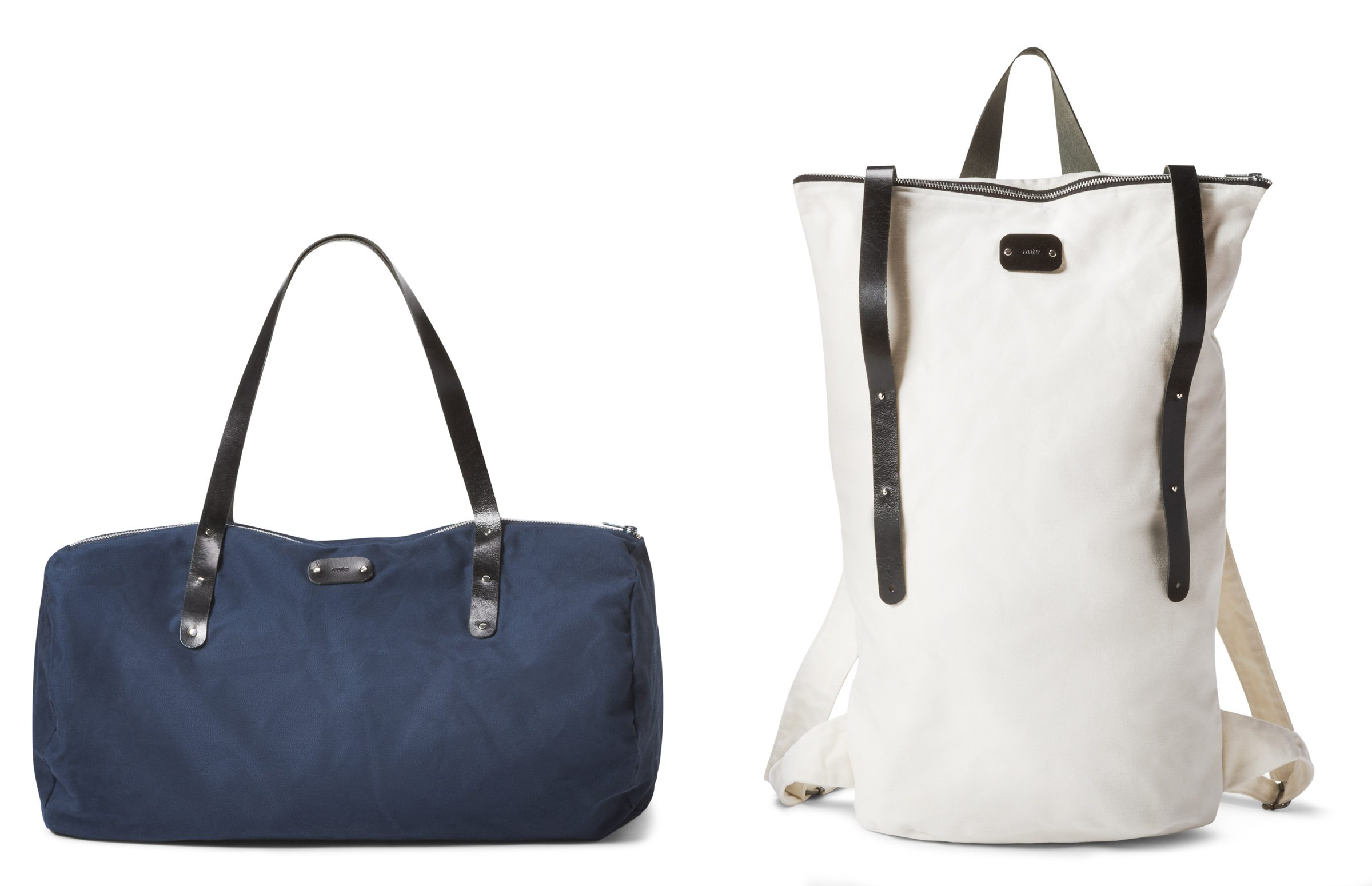 Backpack $215 and sports bag $160 by Marie-Anne Miljours, MATU