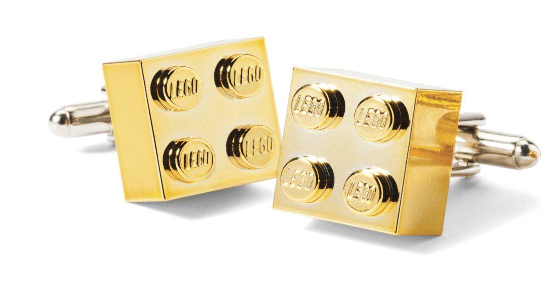 Gold chrome cufflinks $33 by Jennifer Chow, Nostalgic Links