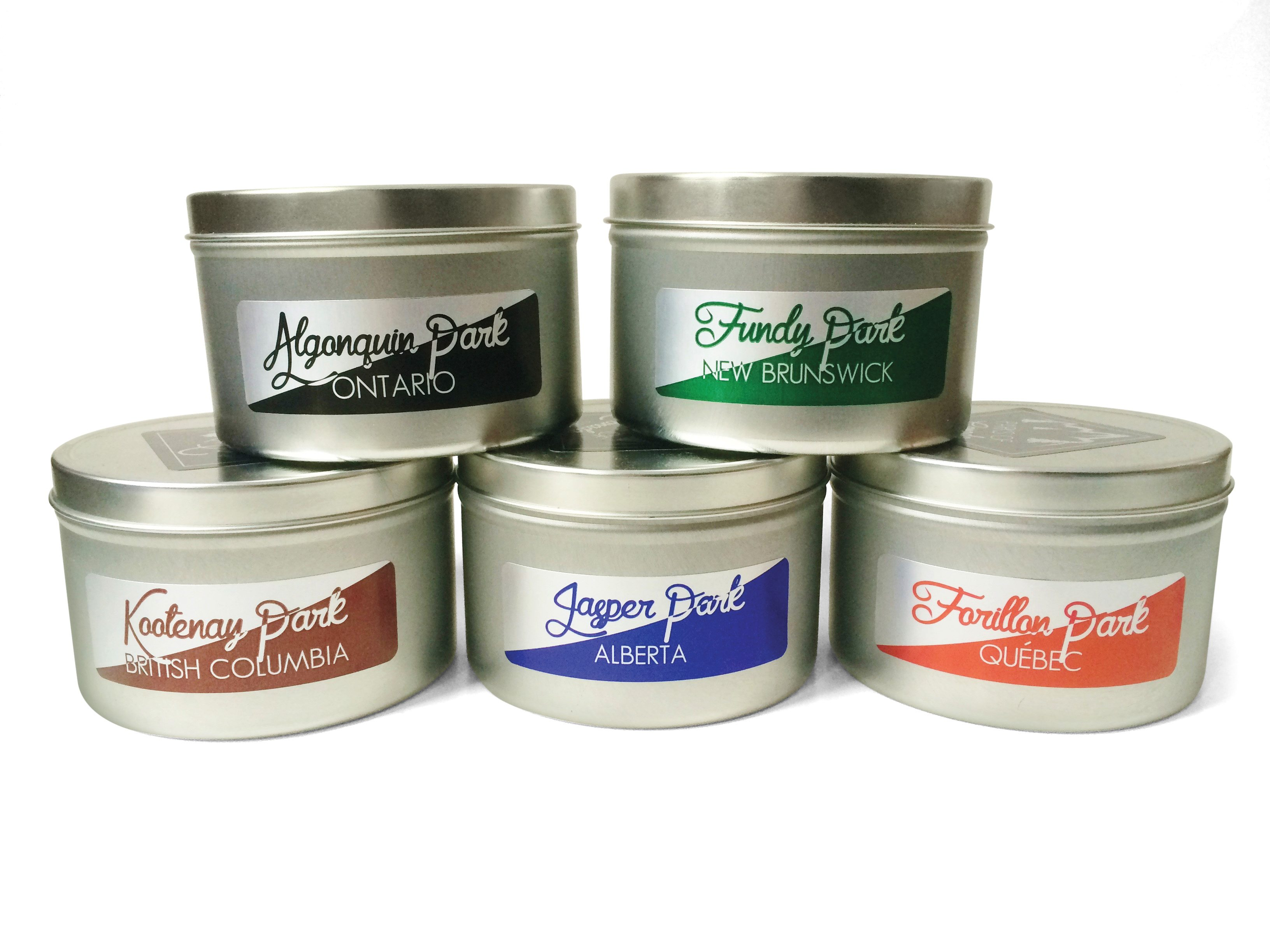 Parks of Canada candle $35 each by by Natalie Gluic, Smells Like CanadaGroup