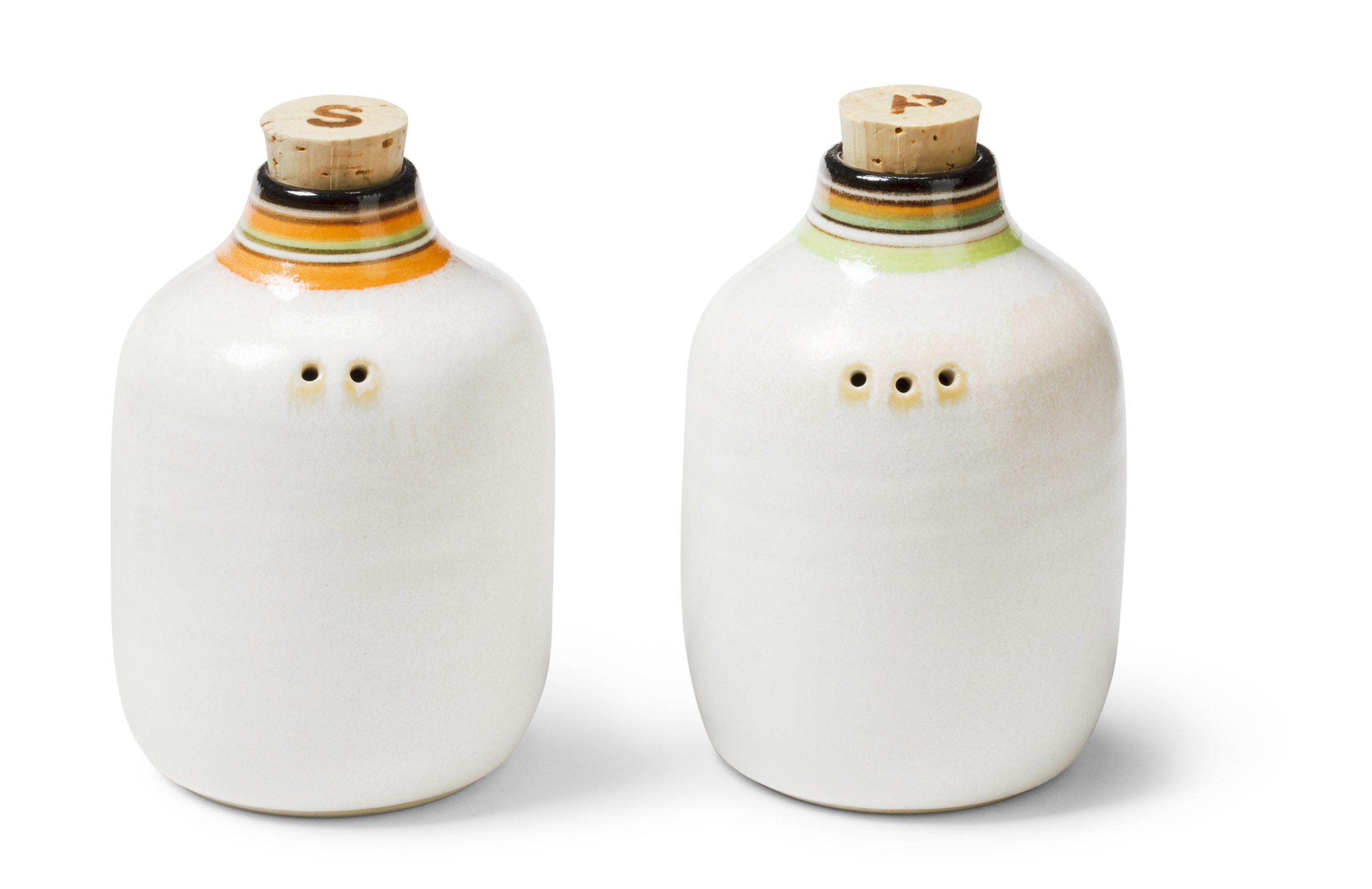 Porcelain salt and pepper shaker $35 each by Hae Jin Lee, Haejin Lee Ceramics