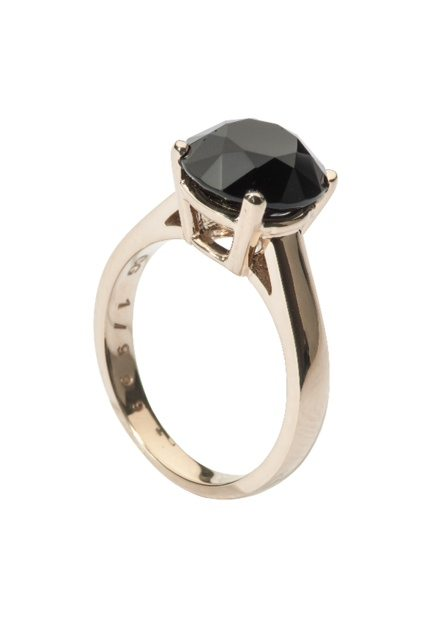 Solitary ring in yellow gold $440 by Kimberlee Clarke of Cinderella Garbage
