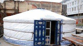 Café Belong has adopted Ceili Cottage's yurt