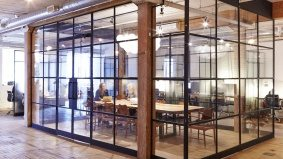 Inside East Room, the city's swishest communal office