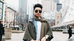 Street Style: Toronto Fashion Week attendees blend in with neutral looks