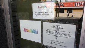 Toronto police are raiding pot dispensaries throughout the city