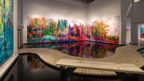 Here's how an artist built a 2,000-gallon lake inside a Toronto art gallery