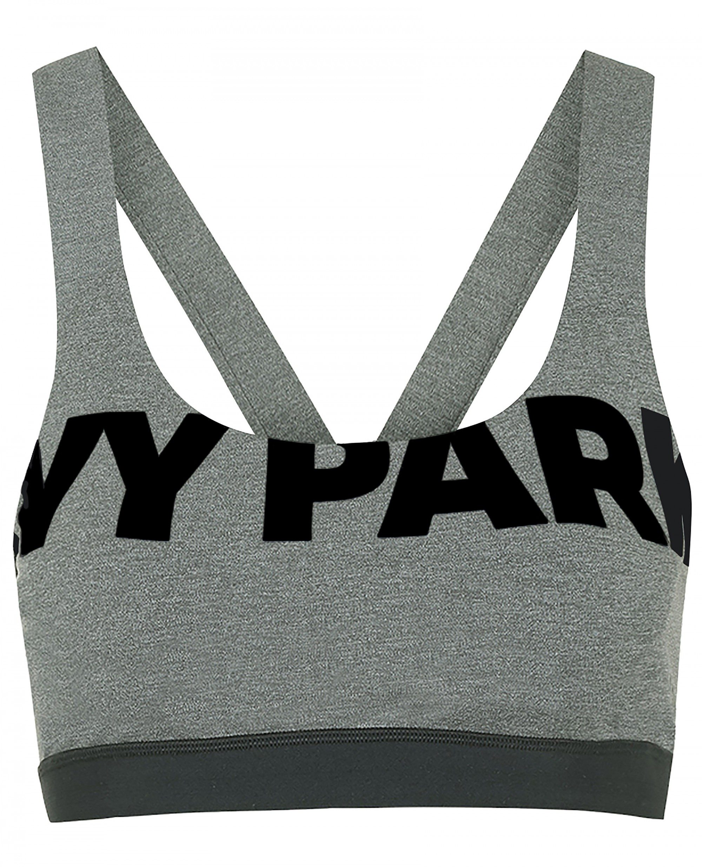 Ivy Park V Back Bra in Dark Grey, $45 NEW
